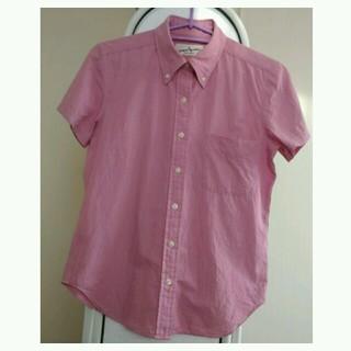 ベルメゾン(ベルメゾン)の美品《ボタンダウンシャツ》ストライプ・小さめM(シャツ/ブラウス(半袖/袖なし))