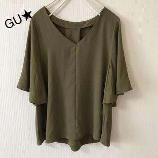 ジーユー(GU)のGU❤️トロミプルオーバー(シャツ/ブラウス(半袖/袖なし))