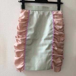 デイシー(deicy)のギンガムチェック切り替えスカート♡美品(ひざ丈スカート)