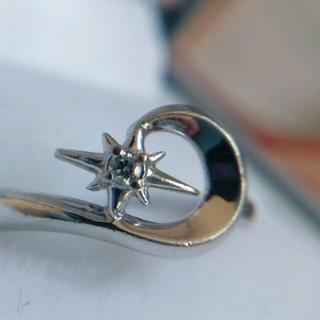 スタージュエリー(STAR JEWELRY)のstarjewelryk18wgムーンピンキーダイヤ6号美品スタージュエリー(リング(指輪))