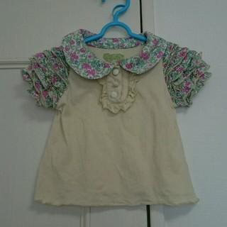フェフェ(fafa)の【fafa】半袖フリルシャツ 90cm(Tシャツ/カットソー)