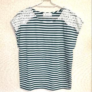 シマムラ(しまむら)の肩レース フレンチスリーブTシャツ(Tシャツ(半袖/袖なし))