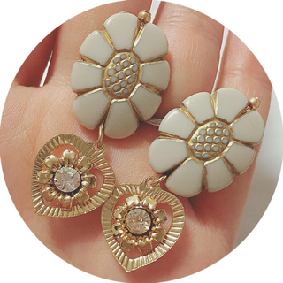 vintage flower earring pierce(ピアス)
