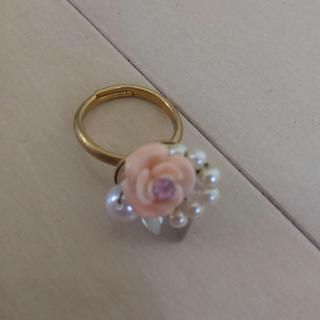【美品】バラパールリング(リング(指輪))