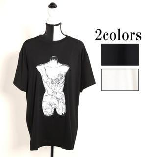 ファンキーフルーツ(FUNKY FRUIT)の残り僅か!新作 男女兼用 人体BOX プリント big Tシャツ 半袖(Tシャツ(半袖/袖なし))