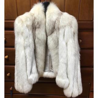 美品 本物 120万円 preta fox 毛皮 ショートコート 11号(毛皮/ファーコート)