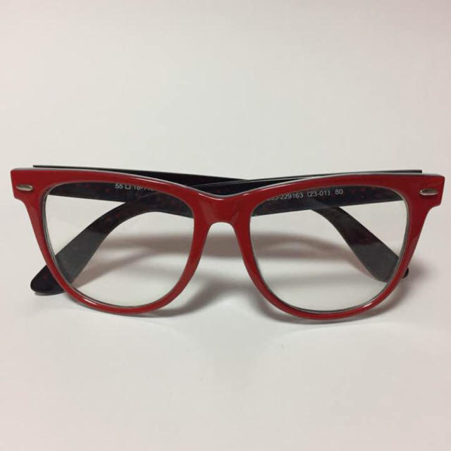 GU(ジーユー)の未使用♡GU 赤フレーム 伊達メガネ ファッショングラス レディースのファッション小物(サングラス/メガネ)の商品写真