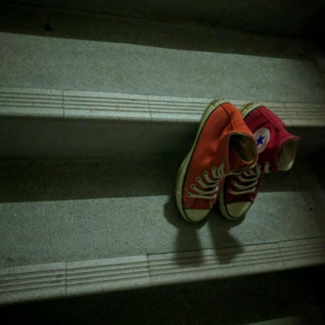 CONVERSE(コンバース)のCONVERSE usa製 90s 4 4.5㌅ テレコシューズ レディースの靴/シューズ(スニーカー)の商品写真