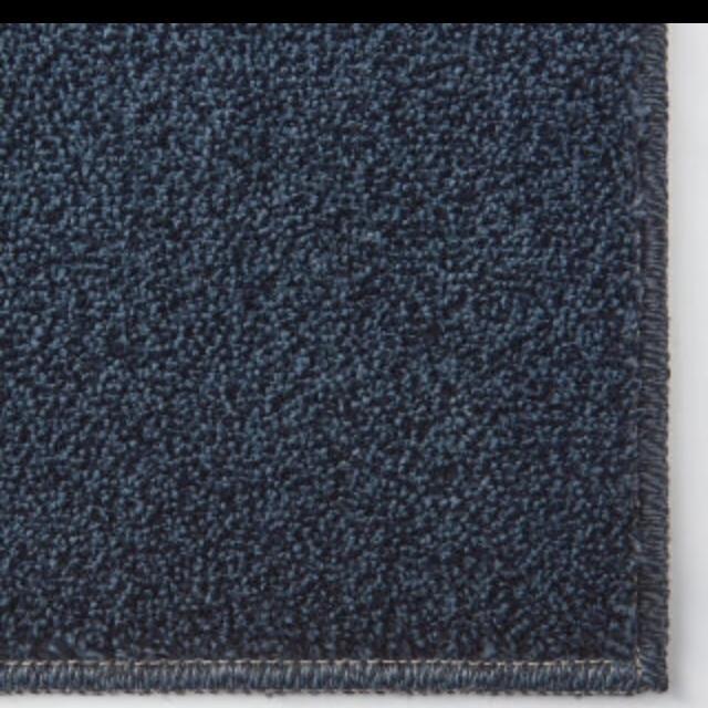 MUJI (無印良品)(ムジルシリョウヒン)の◆新品◆ 無印良品 ナイロン パイル やわらかラグ ネイビー 140×200 ㎝ インテリア/住まい/日用品のラグ/カーペット/マット(ラグ)の商品写真