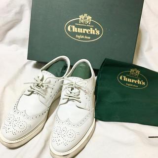 チャーチ(Church's)のチャーチ ☆ホワイトウィングチップ美品💛🎀💛(ローファー/革靴)