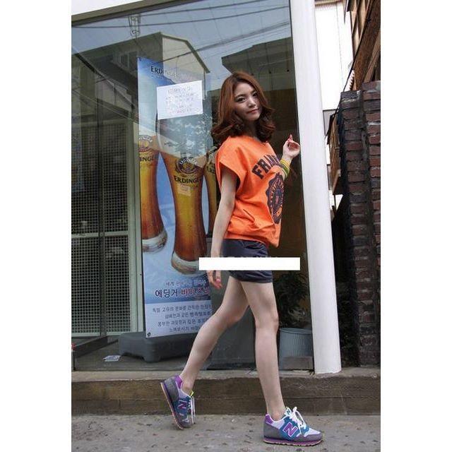 新品☆胸元ロゴ上下セットアップ オレンジ レディースのルームウェア/パジャマ(ルームウェア)の商品写真
