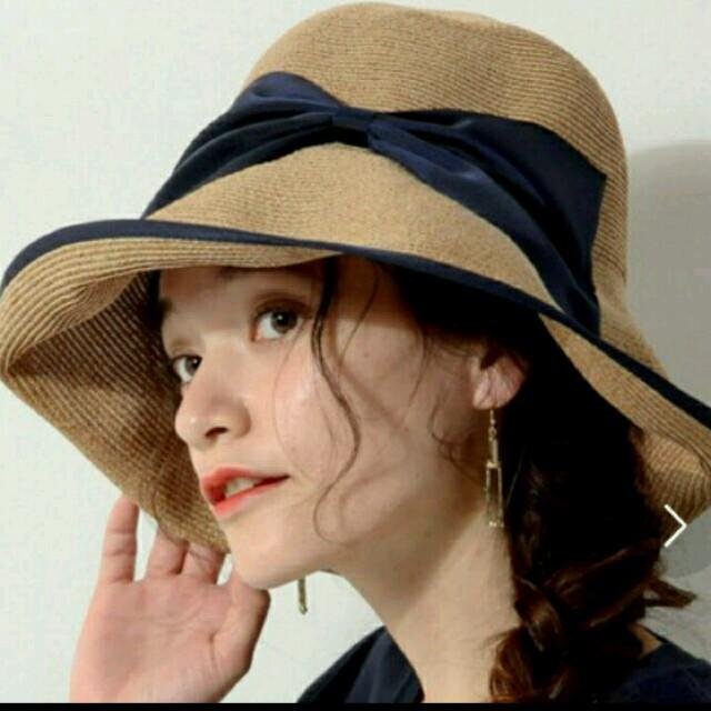 アッシーナニューヨーク キンバリー 黒 レディースの帽子(麦わら帽子/ストローハット)の商品写真