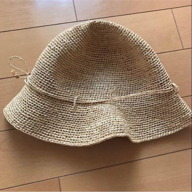 MUJI (無印良品)(ムジルシリョウヒン)のキャベリンハット ラァフィアハット 無印良品 麦わら帽子  ストローハット  レディースの帽子(麦わら帽子/ストローハット)の商品写真