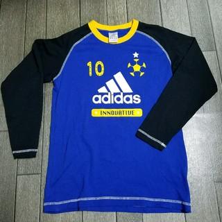 アディダス(adidas)のadidas メンズ レディース Tシャツ 青 ラグラン 七分丈(Tシャツ/カットソー(七分/長袖))