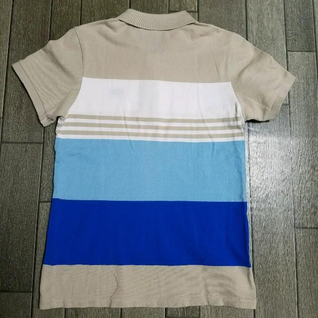 adidas(アディダス)のadidas ポロシャツ ベージュ 青 L メンズのトップス(ポロシャツ)の商品写真