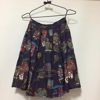 ジェーンマープル(JaneMarple)のJane marple スーベニアエンブレムミニスカート(ひざ丈スカート)