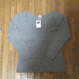 シェル(Cher)のcher shore ♡シェルショア新品タグ付 グレー七分袖カットソー Tシャツ(Tシャツ(長袖/七分))