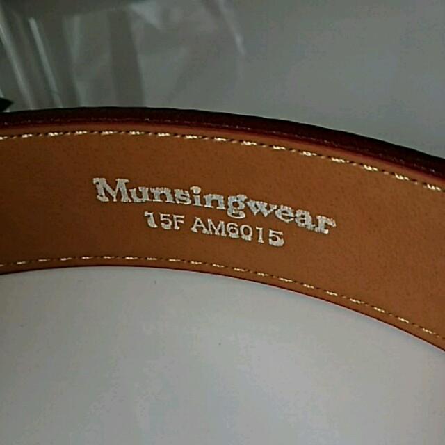 Munsingwear(マンシングウェア)の新品 Munsingwear 牛革ベルト メンズのファッション小物(ベルト)の商品写真