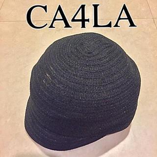カシラ(CA4LA)の【カシラ】シルク ペーパー マリンキャップ 麦わらキャップ ストローハット(ハンチング/ベレー帽)