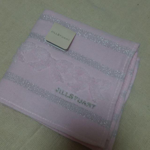 JILLSTUART(ジルスチュアート)のジルスチュアート*タオル*リボン*ピンク レディースのファッション小物(ハンカチ)の商品写真