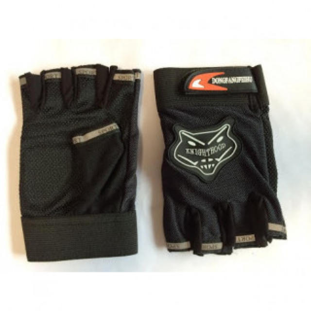 サイクル グローブ 指出しタイプ 手袋 黒 送料無料 レディースのファッション小物(その他)の商品写真