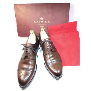 試着のみ カルミナ CARMINA セミブローグ 25.5cm 付属品付(ドレス/ビジネス)