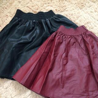 ローリーズファーム(LOWRYS FARM)のレザースカート二点セット!(ミニスカート)