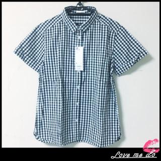 ジーユー(GU)の【新品・タグ付】☆GU  ギンガムチェック半袖シャツ☆(シャツ/ブラウス(半袖/袖なし))