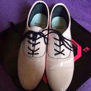 アメリカンアパレル(American Apparel)のアメアパ ダンスシューズ エナメルピンク(ローファー/革靴)