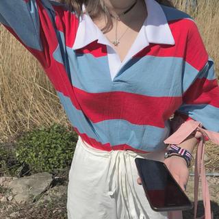 ミックスエックスミックス(mixxmix)のストライプTシャツ(Tシャツ(半袖/袖なし))