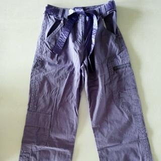 ネクスト(NEXT)のNEXT 紫スパンコール付きズボン サイズ:134センチ:9才  (パンツ/スパッツ)
