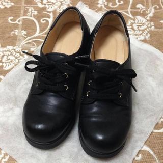 太ヒール スニーカー(BLACK)♡(スニーカー)