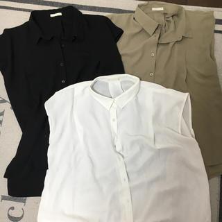 ジーユー(GU)の新品エアリーシャツ3点セット(シャツ/ブラウス(半袖/袖なし))