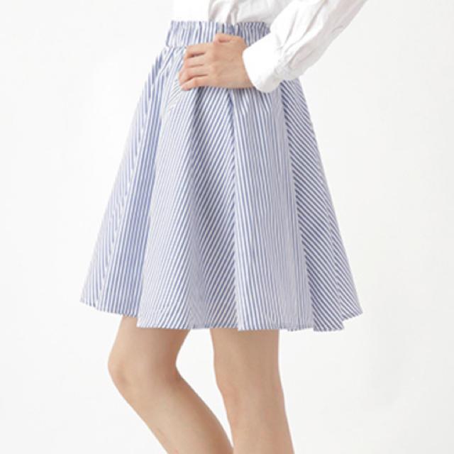 LOWRYS FARM(ローリーズファーム)のイーハイフンワールドギャラリー ストライプ柄コットンスカート レディースのスカート(ミニスカート)の商品写真