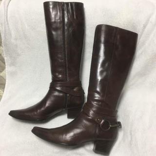 ベルメゾン(ベルメゾン)のベネビス 本革 ブーツ 24センチ(ブーツ)