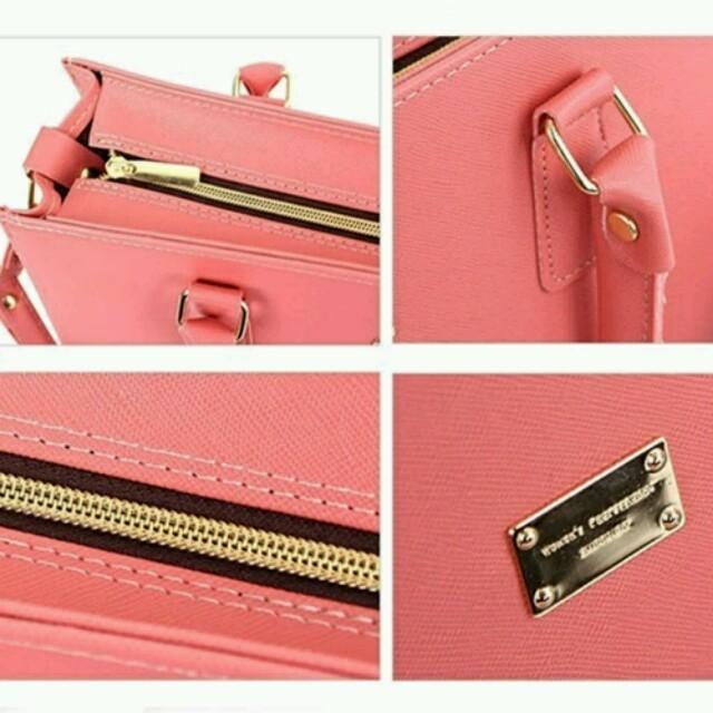 ♡大サイズのベージュ色♡トートバッグ/ハンドバッグ/ショルダーバッグ/通学バッグ レディースのバッグ(ハンドバッグ)の商品写真