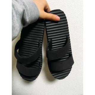 ムジルシリョウヒン(MUJI (無印良品))のあを様お買い上げ専用🌟無印 ラバースポンジサンダル 黒(サンダル)