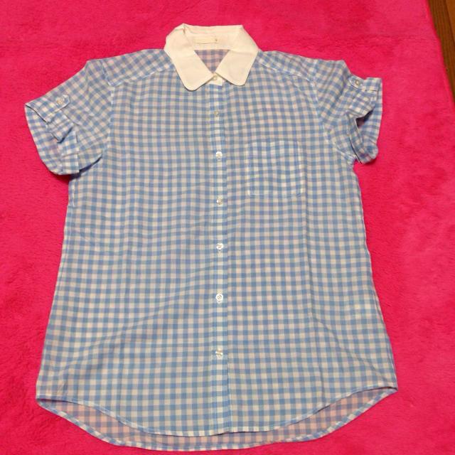 GU(ジーユー)の今季必須! ギンガムチェックシャツ レディースのトップス(シャツ/ブラウス(半袖/袖なし))の商品写真