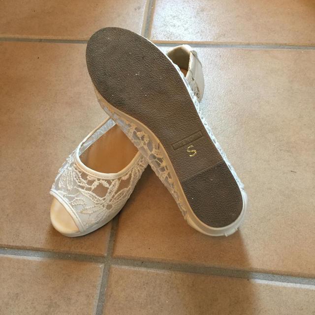 シースルーホワイトサンダル レディースの靴/シューズ(サンダル)の商品写真