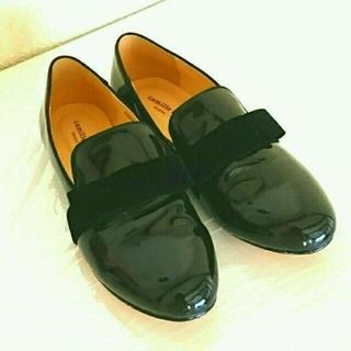 ランダ(RANDA)の【RANDA】リボン付き☆エナメルローファー(ローファー/革靴)