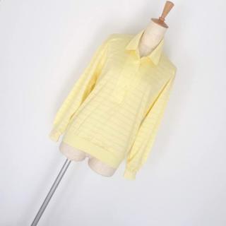 マンシングウェア(Munsingwear)の新品☆マンシングウエア ラメボーダーポロシャツ Lサイズ ゴルフ(ポロシャツ)