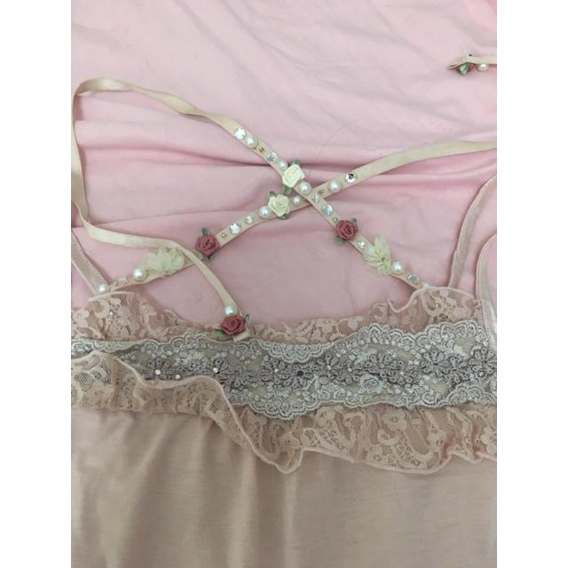 axes femme(アクシーズファム)のaxesfemme ストラップ付きキャミ 淡ピンク レディースのトップス(キャミソール)の商品写真