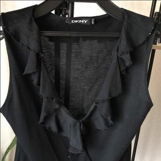 ダナキャランニューヨークウィメン(DKNY WOMEN)のダナキャラン フリルブラウス(シャツ/ブラウス(半袖/袖なし))
