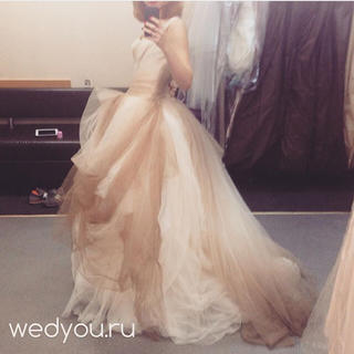 ヴェラウォン(Vera Wang)のverawang グラデーションドレス ブラウン(ウェディングドレス)