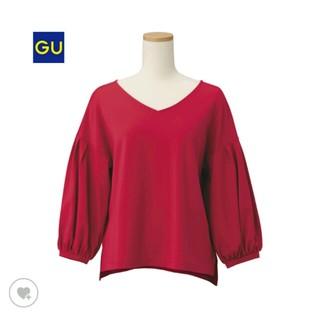 ジーユー(GU)のgu 今季モリソデトップス(ピンク)(Tシャツ(長袖/七分))