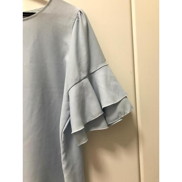 しまむら(シマムラ)の最終値下げ🌟フリル袖トップス レディースのトップス(カットソー(半袖/袖なし))の商品写真