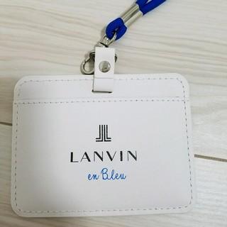 ランバンオンブルー(LANVIN en Bleu)の定期ケース🎀LANVIN en blue(名刺入れ/定期入れ)