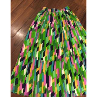 リリーブラウン(Lily Brown)のLilybrown幾何学柄ロングスカート(ロングスカート)