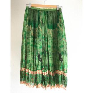 ツモリチサト(TSUMORI CHISATO)のtsumori chisato 森のくまさん スカート グリーン(ひざ丈スカート)