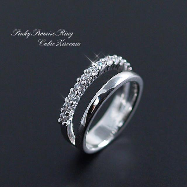 小指♡新品 ピンキーリング♡czダイヤ♡指輪♡スナイデル、ジルスチュアート好き♡ レディースのアクセサリー(リング(指輪))の商品写真
